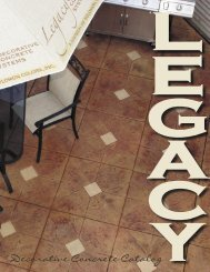coloring systems - Legacy Decorative Concrete Systems, Inc.