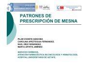 PATRONES DE PRESCRIPCIÓN DE MESNA