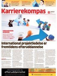 international projektledelse er fremtidens efteruddannelse - LiveBook