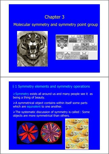 Chapter 3 Molecular symmetry and symmetry point group