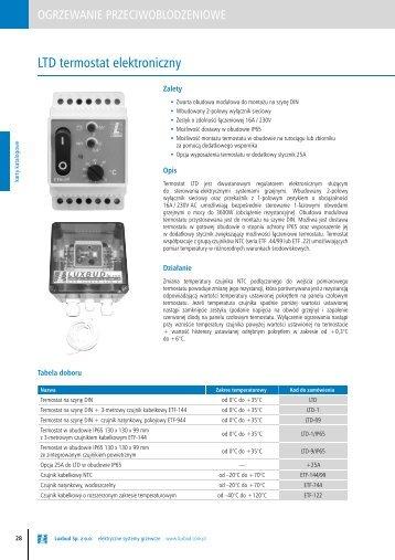 LTD termostat elektroniczny - Luxbud