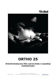 ORTHO 25 Ortochromatyczny film czarno-biały o wysokiej ...