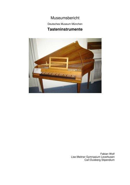 Museumsbericht Tasteninstrumente - Lise-Meitner-Gymnasium