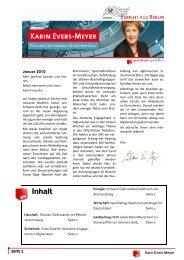 Bericht aus Berlin Januar 2010 - Karin Evers-Meyer