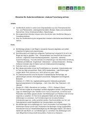 Hinweise für Autorinnen/Autoren «inatura Forschung online»