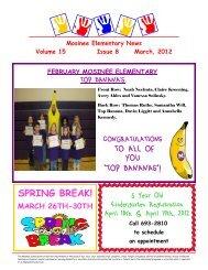 March - Mosinee School District