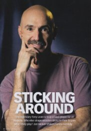 Bass Guitar Magazine - Tony Levin Interview ... - Levin Torn White