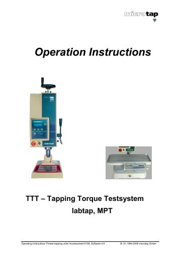 TTT Tapping-Torque-Test - microtap GmbH