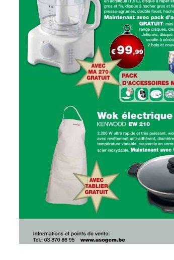 Robot de cuisine Major Wok électrique Préparateur culinaire - Asogem