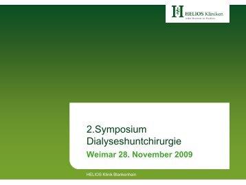 Die Dokumentation gerade in der Dialyseshuntchirurgie