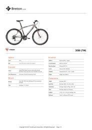 (c) Trek Bicycles Sell Sheet Document - Legendbike