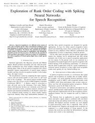 Exploration of Rank Order Coding with Spiking Neural Networks for ...