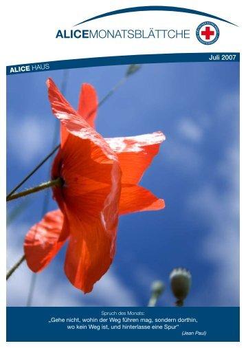 ALICE HAUS Juli 2007 - Alice Haus Mainz