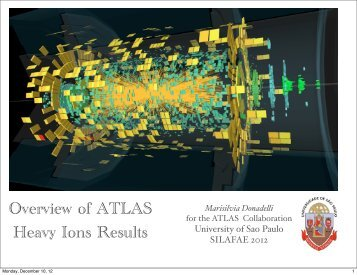 Heavy ion physics with ATLAS - ictp – saifr