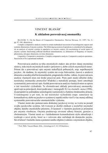 Číslo 2 - Slavistický ústav Jána Stanislava SAV