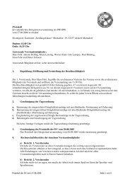 Protokoll der ordentlichen Delegiertenversammlung des PBVRW ...