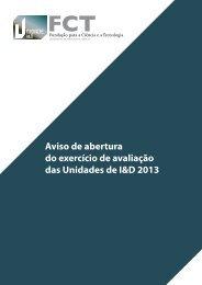 Aviso de abertura do exercício de avaliação das Unidades de ... - FCT
