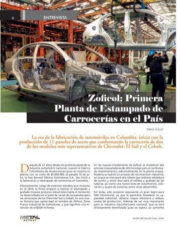Zoficol: Primera Planta de Estampado de Carrocerías en el País