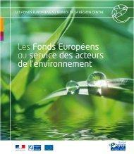 Les Fonds Européens au service des acteurs de l'environnement
