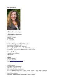Hedi Luxenburger Fachärztin für Anästhesiologie ... - bei der DÄGfA