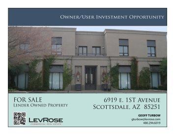 6919 e. 1ST Avenue Scottsdale, AZ 85251 FOR SALE
