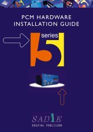 PCM Hardware Installation Guide