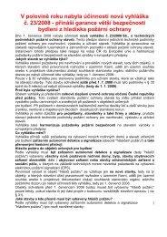 vyhláška č. 23/2008 Sb. - Hlinsko