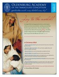 Joy to the world! - Oldenburg Academy