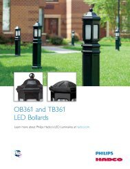 OB361 and TB361 LED Bollards - Hadco