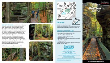 Beartown State Park Brochure - West Virginia Department of ...