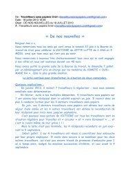 TSP-20130718-De nos nouvelles