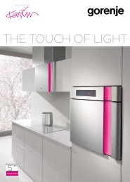 THE TOUCH OF LIGHT - Gorenje Group