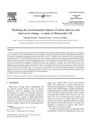 Modeling the environmental impacts of urban land use and land ...