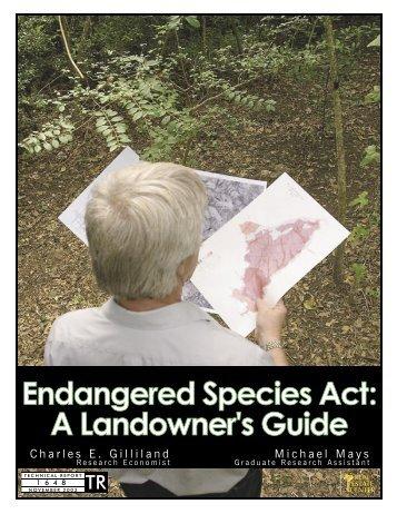 Endangered Species Act: A Landowner's Guide - Real Estate Center