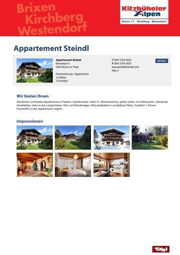 Appartement Steindl