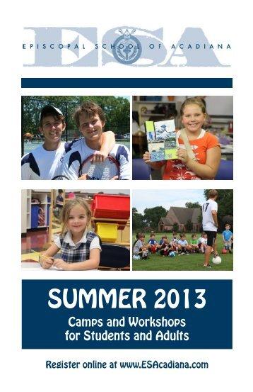 Summer Program - Episcopal School of Acadiana