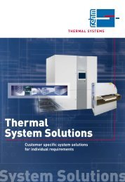 Thermal System Solutions - Rehm Group