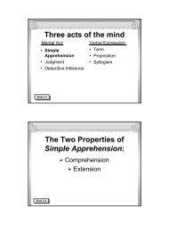 Traditional Logic I Chapter II - Memoria Press