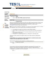 Powered by Precis Abstract Management Submission - TESOL