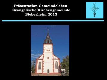 hier - Kirchengemeinde Biebesheim
