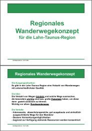 Regionales g Wanderwegekonzept - ILE | Region Lahn-Taunus