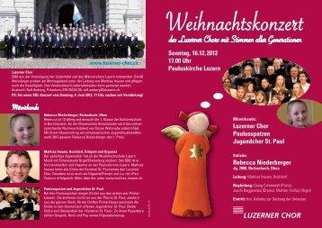 des Luzerner Chors mit Stimmen aller Generationen