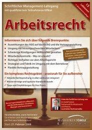 Schriftlicher Lehrgang: Arbeitsrecht