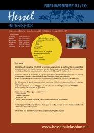 Nieuwsbrief juli 2010 - Hessel Hairfashion