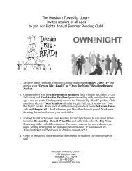 a .PDF version of our Summer Reading Club flyer - Horsham ...