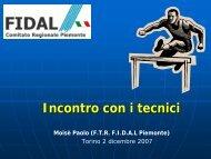 Relazione - Fidal Piemonte