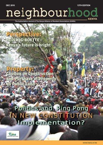 Neighbourhood Kenya 13th Edition - Kara