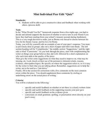 Narrative essay peer editing worksheet