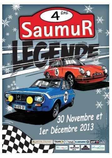 Plaquette rallye saumur 2013 - carthistorique - SiteW