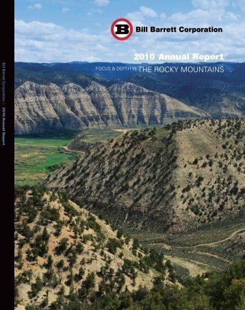 Bill Barrett Corporation Annual Report 2010